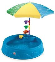 Step 2 Play Shade Above-ground Hard Side Swimming Pool W Umbrella Kids Water Fun