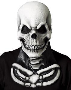 Altillo-Vinilo-Calavera-de-la-Muerte-Halloween-Mascara-con-en-el-Pecho-Pieza