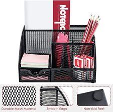Office Desk Organizer Pen Holder Supplies Table File Desktop Mesh Cady Storage