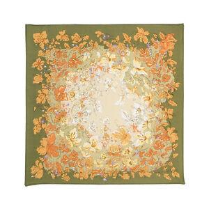 Foulard-en-soie-Cadeau-femme-Carre-en-soie-foulard-vert-Pavlovo-Possad-Russie