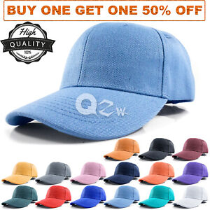 Polo-Style-Baseball-Cap-Dad-Hat-Blank-Curved-Visor-Hats-Adjustable-Plain-Solid