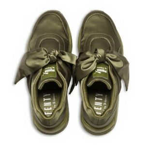 best sneakers b94be b993f Details about Womens Puma x Fenty By Rihanna Bow Sneaker Olive Branch