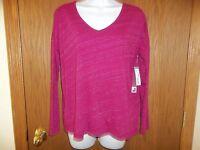 Women's Jc Penney Long Sleeve Lafayette Rose Purple Shirt Size S