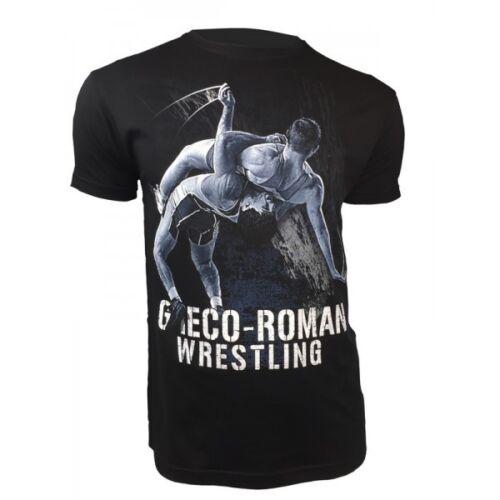 Men/'s GRECO ROMAN Wrestling Ringen Short Sleeve T-Shirt Training