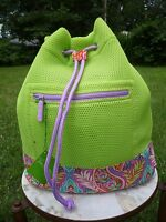 Vera Bradley Mesh Backpack In Citrine Paisley In Paradise