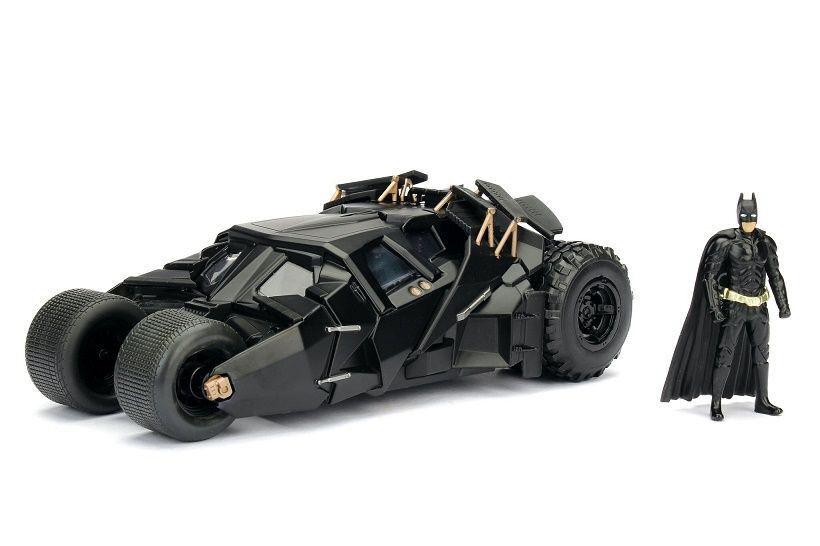 1 24 Jada - Den Mörke riddaren - Batbilene med läderlappen Figur