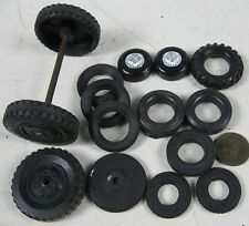 Lot of 15 Vintage 1930's-60's Soft Plastic & Rubber Wheels Lesney Ideal