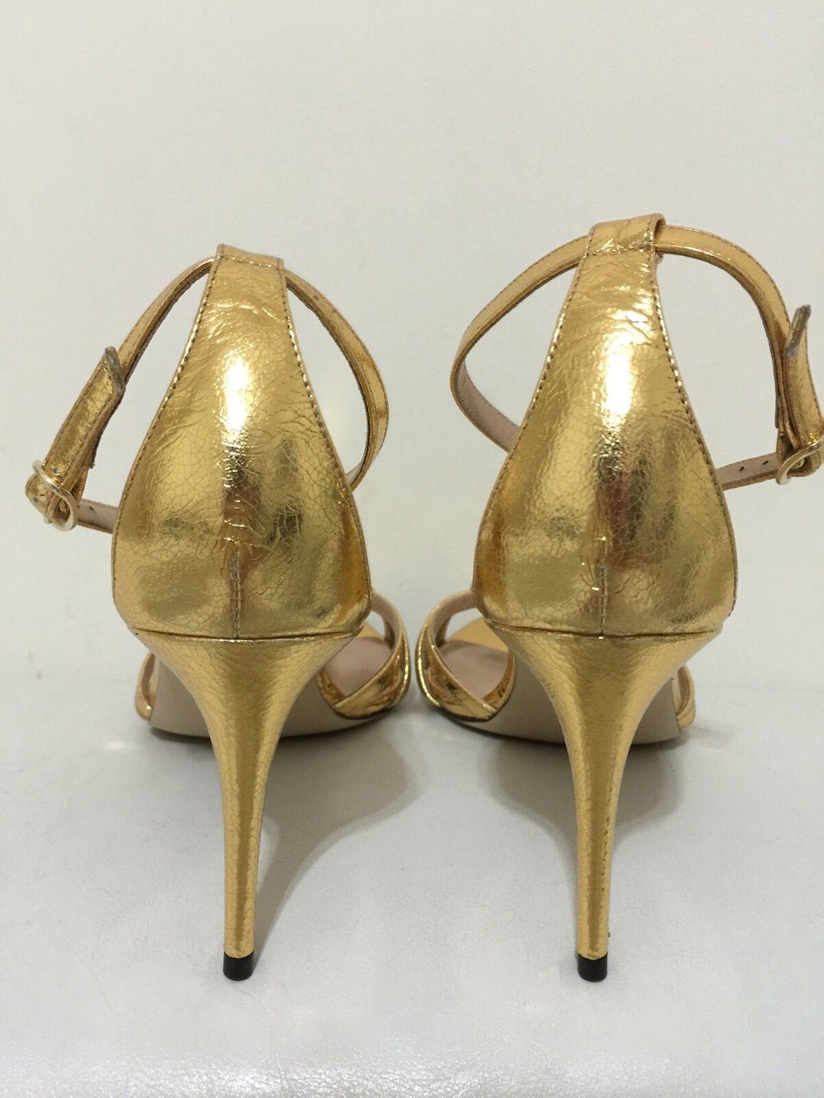 New  268 J.Crew gold Crackled Metallic Party Heels Sandals Sandals Sandals 10.5 E7321 NEW 8a2329