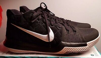 super popular 59a0f 89911 Nike Kyrie 3 NEW Men's Basketball Shoes 852395 010 Black White Suede size 12