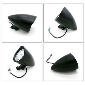 Black-Bullet-Motorcycle-Headlight-H4-Harley-Softail-Touring-vrod-dyna-chopper-XL