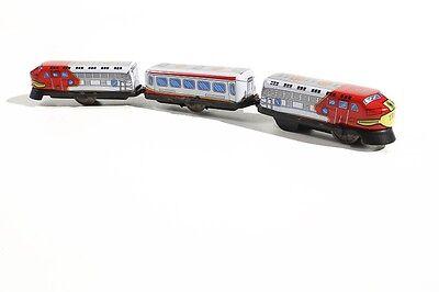 Obligatorisch Blechspielzeug Spielzeug Blechspielzeug Kleiner Zug Mit Federaufzug °° Tin Toy Train °° Eisenbahn Hindernis Entfernen