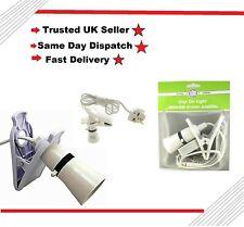 Pifco Clip On Light Switched Lamp Holder Bulb Holder Flex /&UK Mains Plug 2m