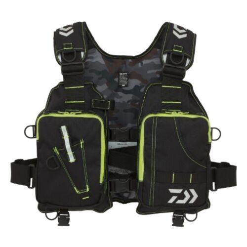NEW Daiwa DF-6406 Fishing Game Vest Cloth Life Preserver BLACK