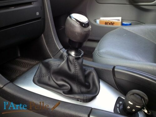 Gear stick gaiter Saab 9 3 sport sedan black genuine leather