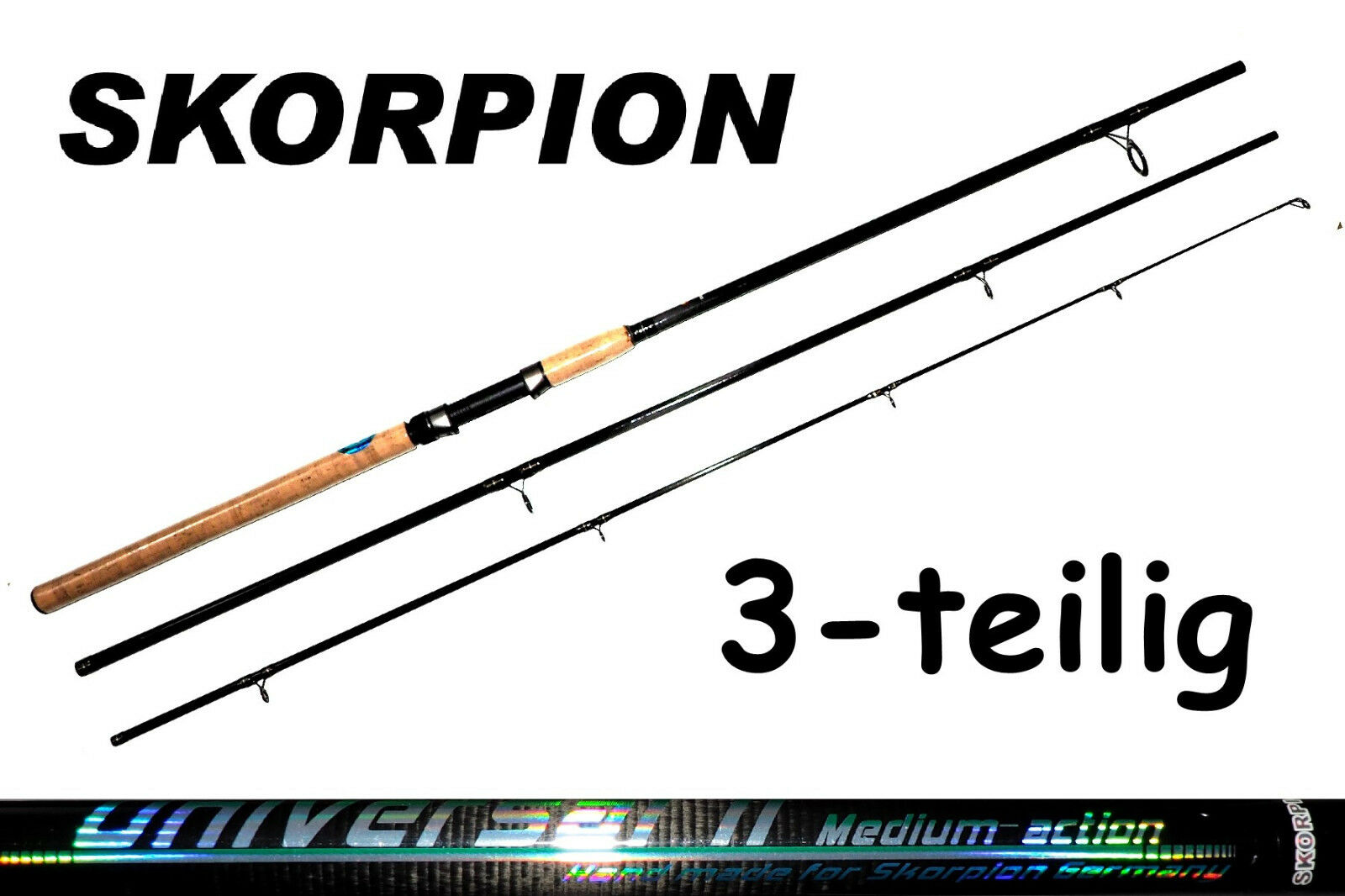 Scorpion universal 2   3-piece carbon fibre Rod all-round Rod carbon Spinning Rod