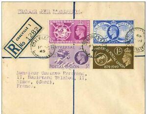 TIMBRES-N-2834-RECOMMANDE-COALVILLE-NIMES-PREMIERS-JOURS-1949-PREMIER-JOUR-D-039-E