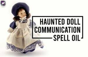 HAUNTED DOLL COMMUNICATION SPELL OIL! DEVELOP DEEPER BONDS! BOOST ACTIVITY!