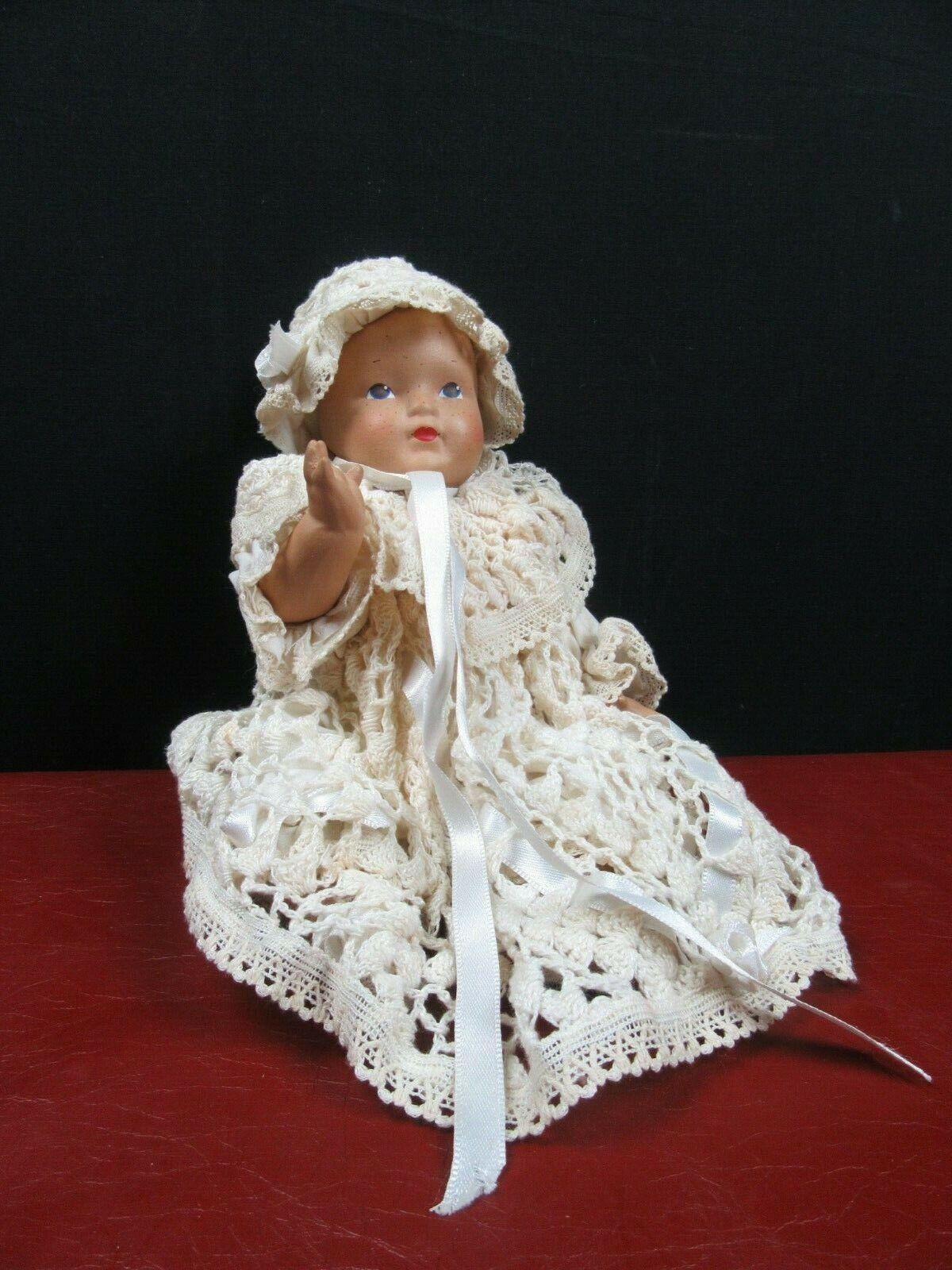 Antica BAMBOLA Porcellana BISCUIT Vestito fatto a uomoo dipinta primi 900 liberty