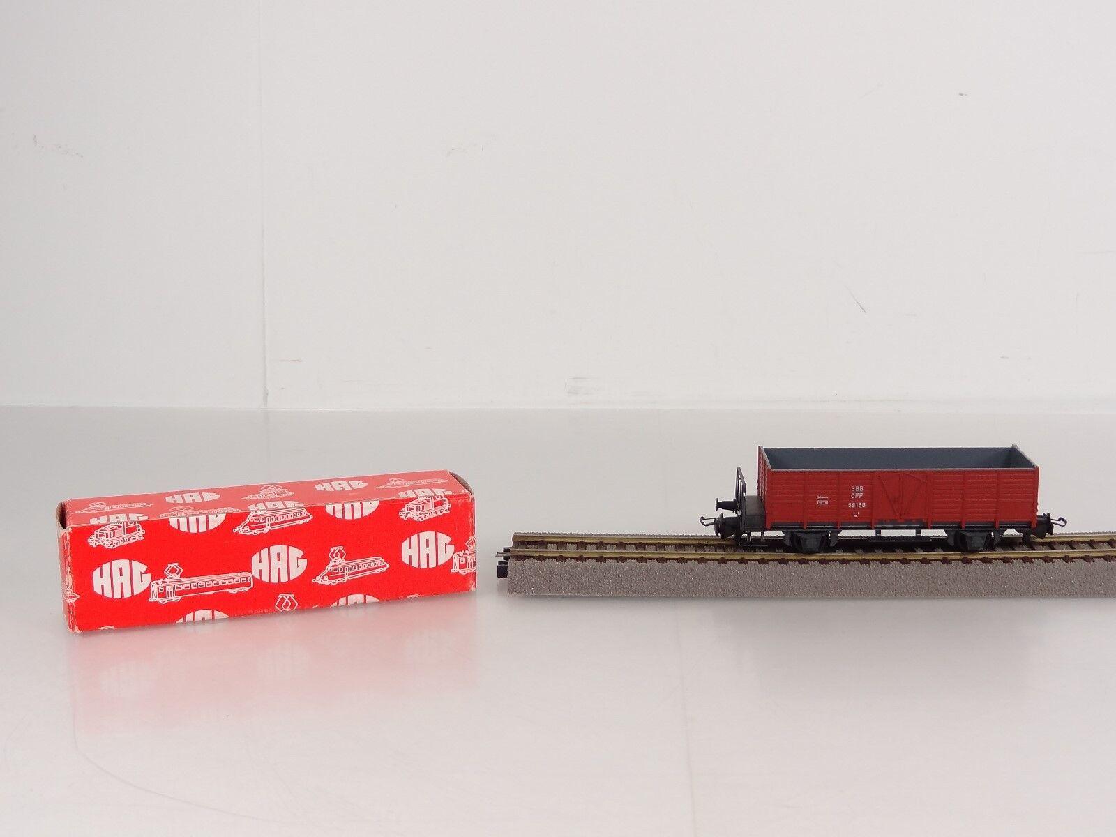 HAG HO Scale Swiss SBB CFF Double Door Hi Side Wagon Freight Car Item 325