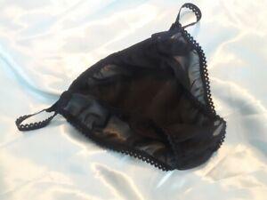 BLACK-Soft-Sheer-CHIFFON-Ladies-sissy-panties-tangas-for-men-all-size-cd-tv