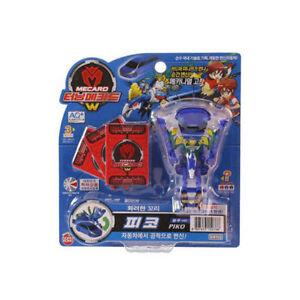 Drehen-mecard-W-Piko-Transformator-transformieren-Auto-Peacock-Robot-Toy-Korean-NK