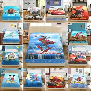 Marvel-Superhero-Fitted-Sheet-Set-Pillowcase-100-Cotton-Twin-Full-Queen-Size