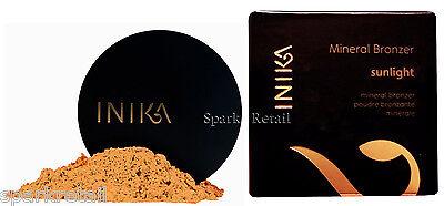 Inika Cosmetics Organic Vegan Loose Mineral BRONZER Bronzing Powder SUNLIGHT