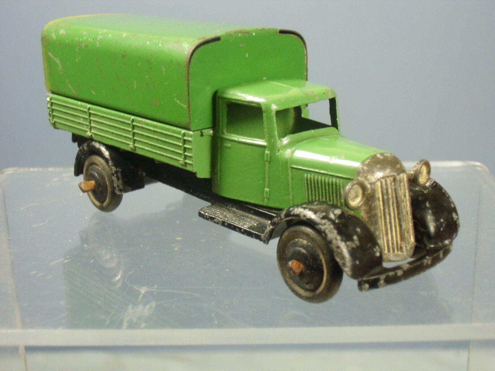 Vintage Dinky Juguetes Modelo No.25b vagón cubierto  verde versión  LOT2