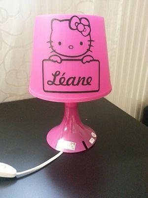 jolie lampe de chevet hello kitty fille personnalisée cadeau anniversaire prénom   eBay