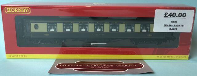 HORNBY 'OO' R4427 PULLMAN 3RD CLASS PARLOUR CAR 'CAR NO.66' INC LIGHTS NEW BOXED