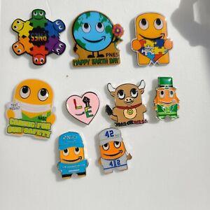 Amazon peccy Pin Lot 9 verschiedene Pins umfasst Jackie Robinson und Erde Tag