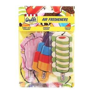 Murs-Glace-Creme-Sucette-3-Pack-Voiture-Desodorisant-Pivotant-Drole-Pied-amp