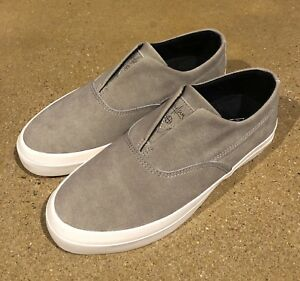 298aed4bf4cd HUF Dylan Slip On Fog Size 4 US Skateboarding Shoes Sneakers Dylan ...