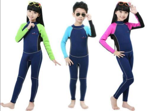 2mm Neoprene Wetsuit for Kids Surfing Snorkling Scuba Diving One Piece Children