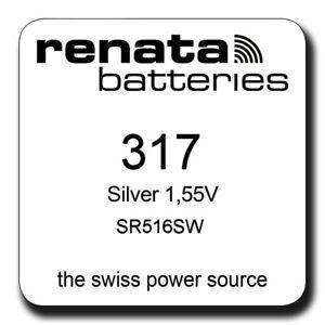 1-x-RENATA-317-SR516SW-Swatch-Skin-Standard-SILVER-OXIDE-Watch-Battery