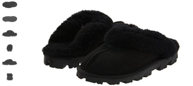 77b7a449f0e UGG Australia Coquette Black Sheepskin Fur Slippers Womens 10