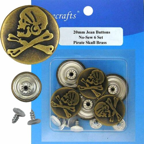 977A2 6 CT. 20 mm No-Sew Replacement Jean Tack Buttons