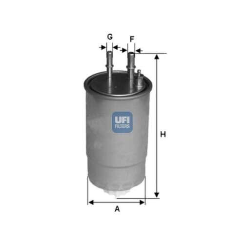 24.ONE.01 Genuine UFI Filtro De Combustible