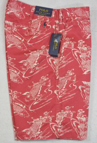Polo Ralph Lauren Shorts Red Fish Relaxed Fit Sizes 30 32 33 34 NWT