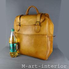 vintage XXL Leder Reisetasche Weekender Tasche Leather Travel Bag *Swiss Made