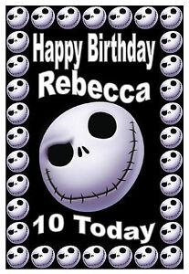 Sensational Nightmare Before Christmas Jack Birthday Card Funny Birthday Cards Online Ioscodamsfinfo
