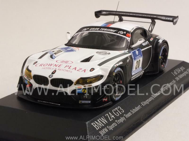 BMW Z4 Gt3 Team Schubert Nurburgring 2014 Klingman 1 43 MINICHAMPS 437142030