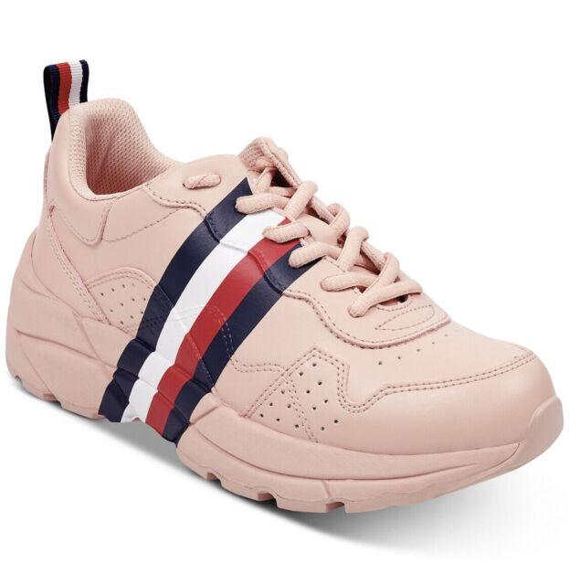 b80d2eb9147 Tommy Hilfiger Envoy Sneakers Blush Pink Platform Tennis Shoes Women's Size  9