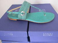 Stuart Weitzman Size 7 Womens Green Turquoise Flats Shoes Sandal