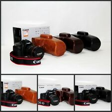 leather case bag For Canon 70D 60D SLR camera w/ 18-55mm 18-135mm 18-200mm lens