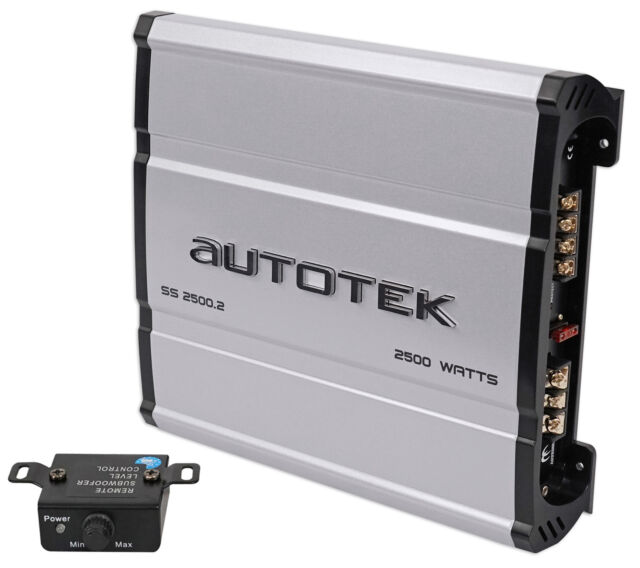 Amp Kit Autotek SS2500.2 Super Sport 2500W 2-Channel Car Amplifier Class A//B