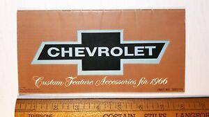 1966-CHEVROLET-Accessories-Original-Dealer-Sales-Brochure-Very-Good-Condn-US