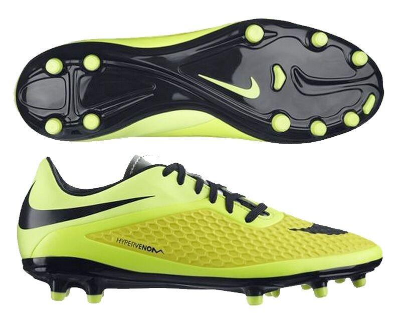 Nike Hypervenom Phelon Fg Pista Dura Fútbol Zapatos Vivos Amarillo   Negro