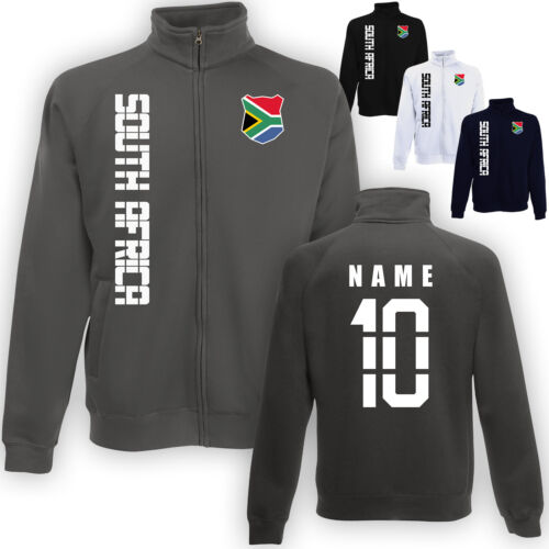Südafrika South Africa Jacke Sweatjacke Trikot mit Name /& Nummer S M L XL XXL