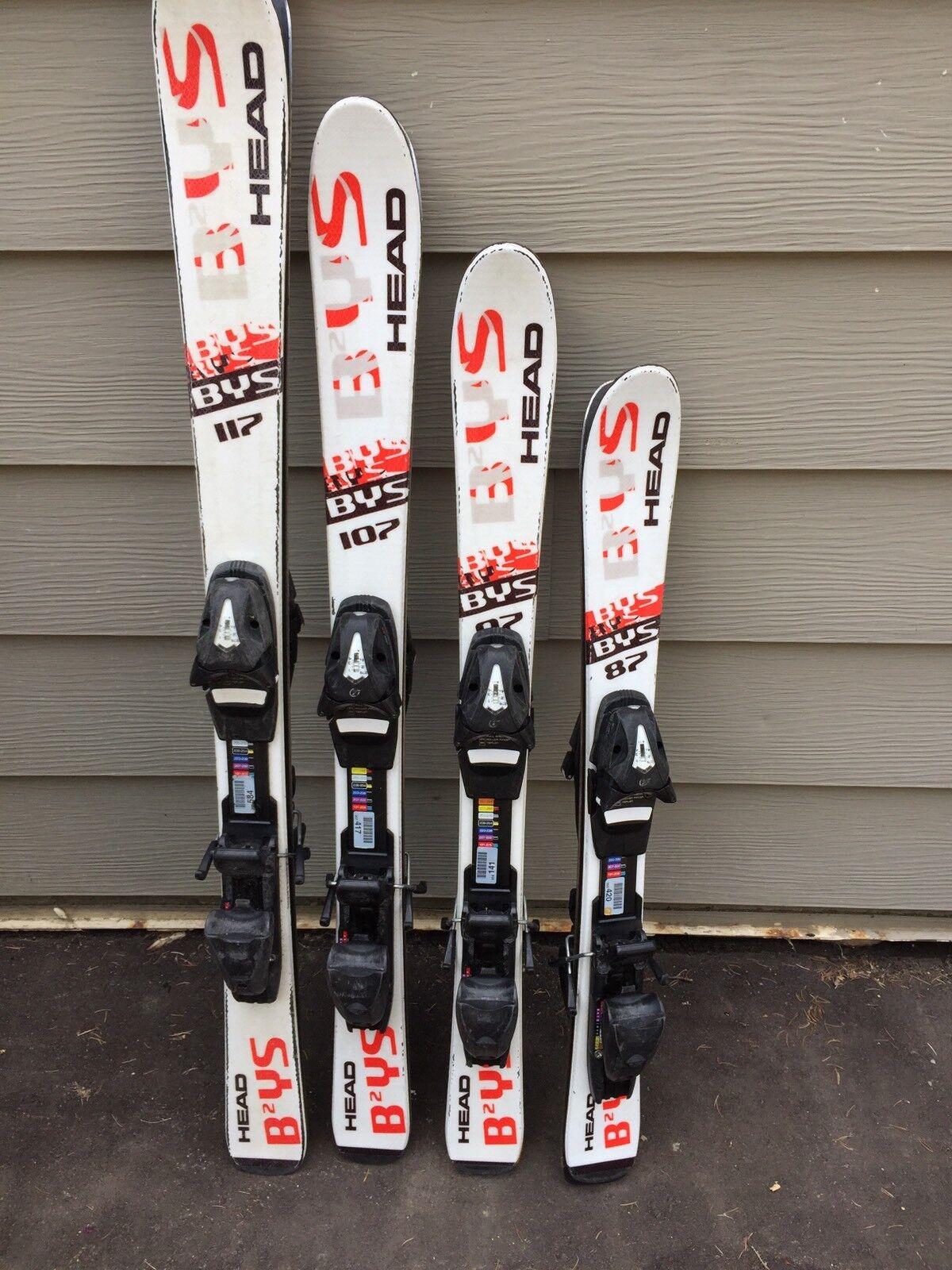 Head BYS junior skis   w Tyrolia SP4.5 Fully  Adjustable Demo Bindings  free shipping